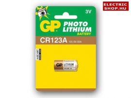 GP CR123A Lithium fotó elem 3V CR 123