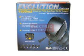 Hálózati adapter 1500mAh stabilizált AC/DC 6V/12V univerzális 3V-12V