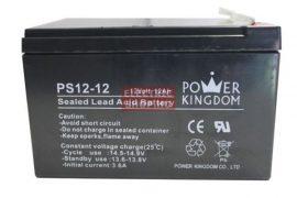 Power Kingdom 12V 12Ah zselés akkumulátor (1 év garancia) gondozásmentes VRLA elektromos kerékpár akku