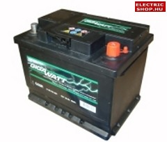 Gigawatt 12V 56Ah Jobb+ akkumulátor