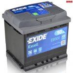 EXIDE Excell Akkumulátor 12V 50Ah 450A Jobb+ EB500