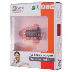 Szivargyújtós USB tápforrás (inverter) autóba 12V/5V 1,2A