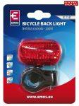 Kerékpár lámpa villogó piros 3 Ledes XC-714