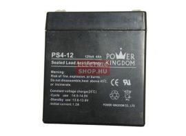 12V 4Ah zselés akkumulátor