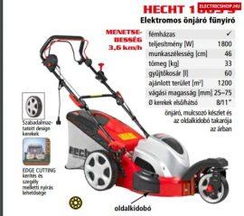 HECHT 1863 S 5in1 Elektromos fémházas önjáró fűnyíró háromkerekű 1800 W trike  elektromos fűnyírógép