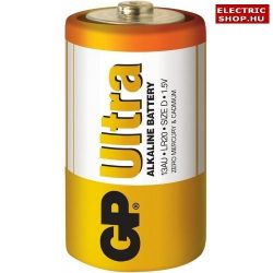 "GP Ultra alkáli ""góliát"" elem 1,5V R20 tartós"