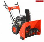 HECHT 9555 SE kétfokozatú benzinmotoros hómaró elektromos indítással, lámpával
