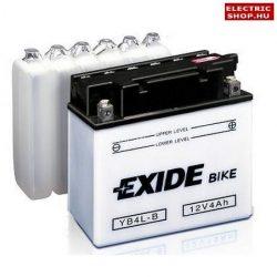 EXIDE 4Ah J+ (56A) savas motorkerékpár akkumulátor YB4L-B 50411