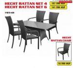 Hecht Rattan Set 4 kerti bútor