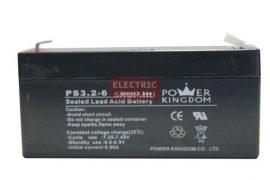 6V 3,2Ah zselés akkumulátor