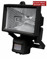 Halogén fényvető 150W mozgásérzékelővel fekete (reflektor) (mozgásérzékelős)
