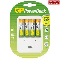 GP PB420 töltő + 4 db 2500mAh ceruza akku