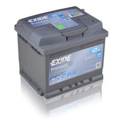EXIDE Premium Akkumulátor 12V 47Ah 450A Jobb+ EA472