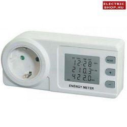 Emos FHT 9999 elektromos digitális fogyasztásmérő 230V 3680W WATTMÉTER SCHUKO dugaljba