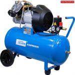 Güde 50015 400/10/50 C kompresszor 2 hengeres V2 olajos légkompresszor dupla dugattyús 50 literes tartállya