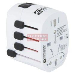 EMOS Utazó adapter (átalakító, euro aljzat)