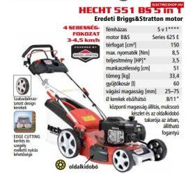 HECHT 551 BS 5 IN 1 Benzinmotoros fűnyíró önjáró eredeti Briggs and Stratton motorral