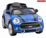 HECHT MINI HATCH BLUE akkumulátoros kisautó  akkus gyerekjáték MINI COOPER S modell kék színben