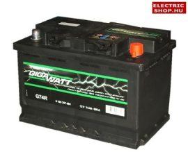 Gigawatt 12V 74Ah Jobb+ akkumulátor