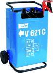 Güde 85075 Akkutöltő V621 C, autó akkumulátor töltő 12V / 24V bikázó funkcióval , indítás rásegítéssel , indító bika, gyorsindító