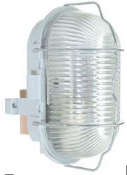 Hajólámpa ovális 60W E27 fémráccsal